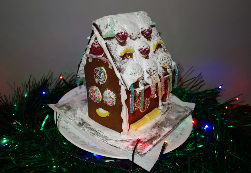 A gingerbread house gifted by one fan of Ryan's Christmas Lights
